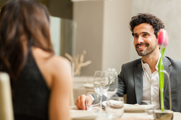 Couple having a date in a luxury restaurant - what attracts a Virgo man