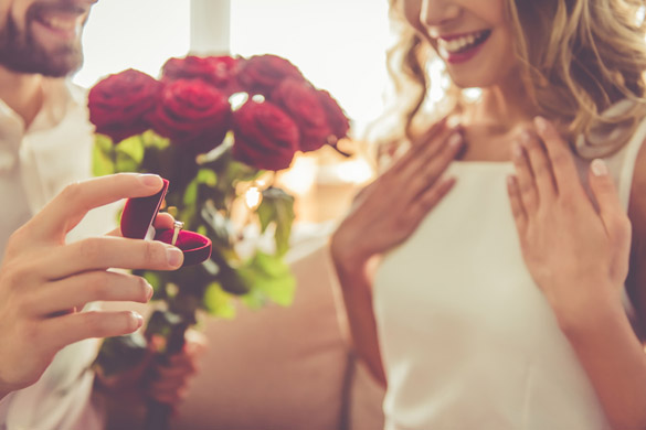 Handsome elegant guy is proposing to his beautiful girlfriend - Virgo Man Best Match For Marriage