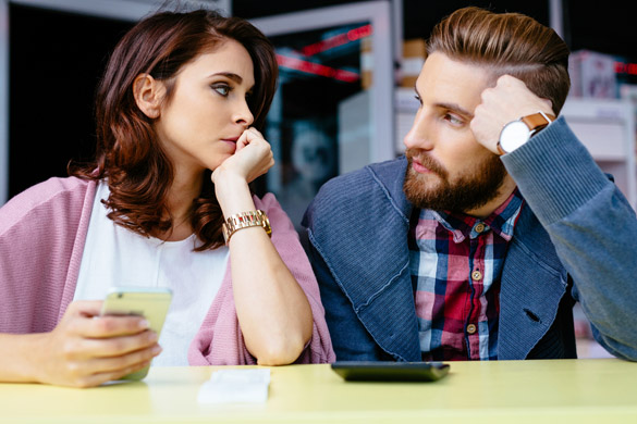 Sad couple worried about home finances - Virgo Man Best Match For Marriage