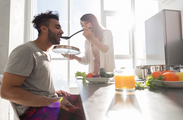 Young Couple Having Breakfast - Things Virgo Man Likes And Dislikes In A Woman