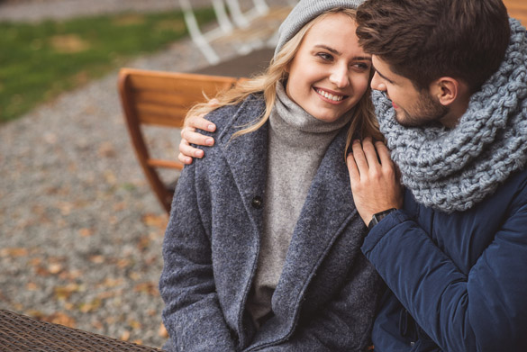 Cute loving couple dating outside - What is the Best Way to Date a Virgo Man