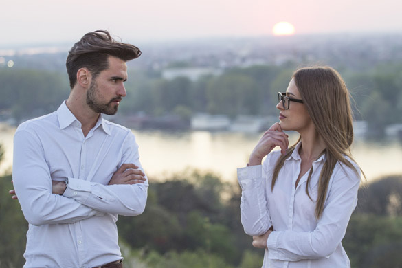 Young couple in conflict in nature - How Can You Tell if Your Virgo Man Is Done With You