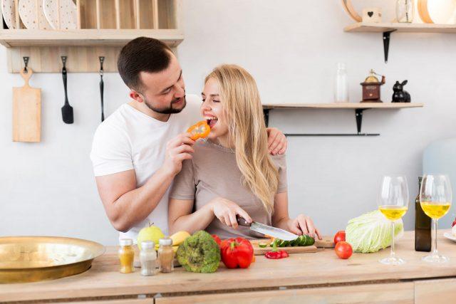 Virgo Man Feeding A Woman Healthy Food